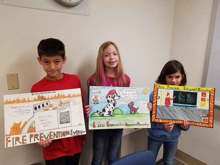 Finalists of the Fire Prevention Poster Contest 2018!
